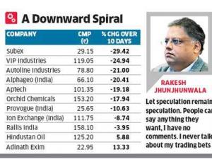 Rakesh Jhunjhunwala Stock Portfolio Caught In Bear Trap