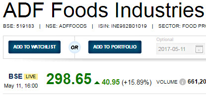 ADF Foods Multibagger