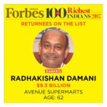 Radhakishan Damani's Net Worth Surges To $9.3 Billion Even As He Leapfrogs Over Rakesh Jhunjhunwala In Forbes Billionaires 2017 List