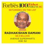 Radhakishan Damani's Net Worth Surges To $9.3 Billion Even As He Leapfrogs Over Rakesh Jhunjhunwala In Forbes Billionaires 2017 List